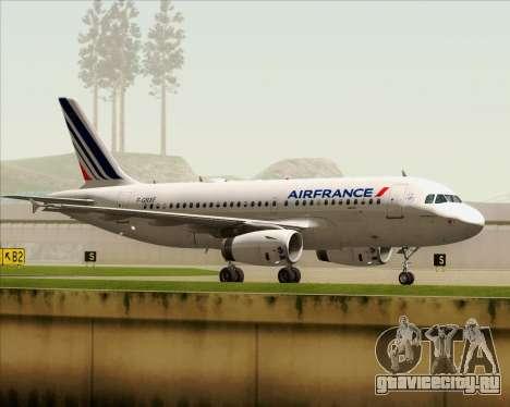 Airbus A319-100 Air France для GTA San Andreas вид сбоку