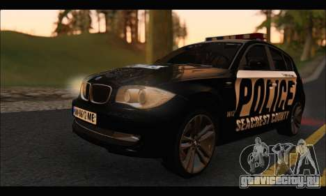 BMW 120i USA Police для GTA San Andreas вид слева