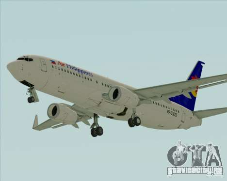 Boeing 737-800 Air Philippines для GTA San Andreas вид слева