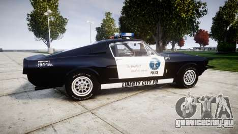 Ford Shelby GT500 Eleanor Police [ELS] для GTA 4 вид слева