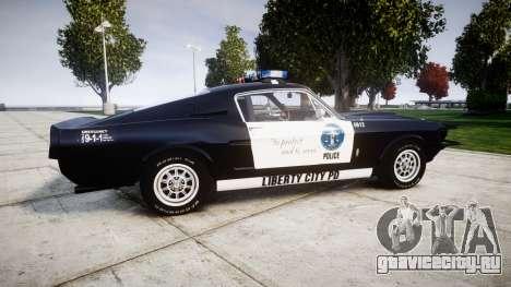 Ford Shelby GT500 Eleanor Police [ELS] для GTA 4 вид слева
