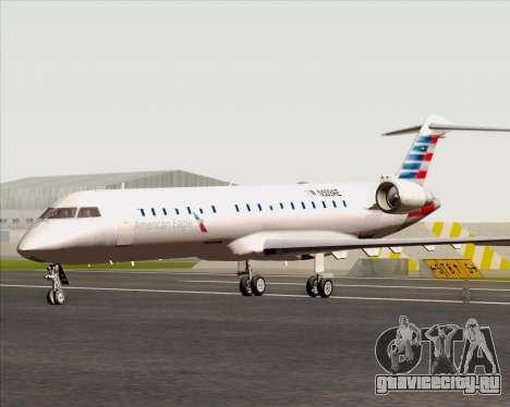 Bombardier CRJ700 American Eagle Airlines для GTA San Andreas вид сзади слева