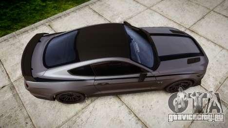Ford Mustang GT 2015 Custom Kit black stripes для GTA 4 вид справа