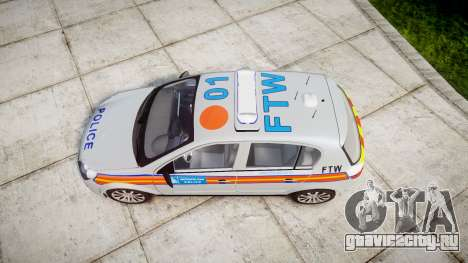 Vauxhall Astra 2009 Police [ELS] 911EP Galaxy для GTA 4 вид справа