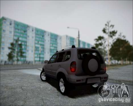 Chevrolet Niva для GTA San Andreas вид сзади
