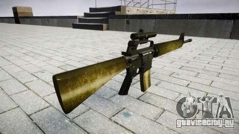 Винтовка M16A2 [optical] olive для GTA 4 второй скриншот