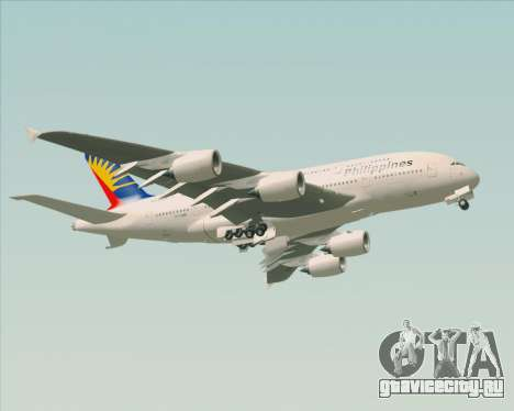 Airbus A380-800 Philippine Airlines для GTA San Andreas вид сбоку