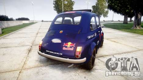Fiat 695 Abarth SS Assetto Corse 1970 Red Bull для GTA 4 вид сзади слева