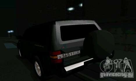 Mitsubishi Pajero Intercooler Turbo 2800 для GTA San Andreas салон