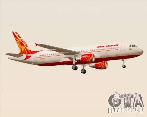 Airbus A320-200 Air India для GTA San Andreas вид справа