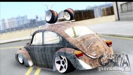 Volkswagen Beetle Vosvos 1973 для GTA San Andreas вид сзади слева