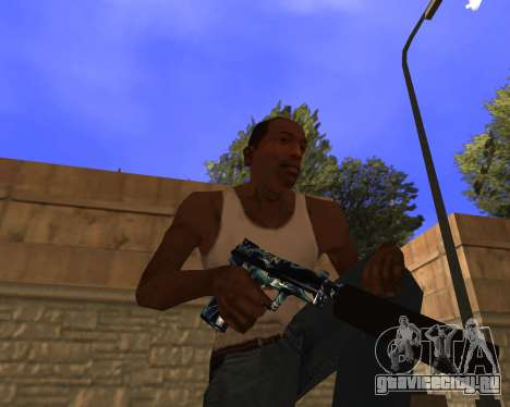 Blue Chrome Weapon Pack для GTA San Andreas третий скриншот