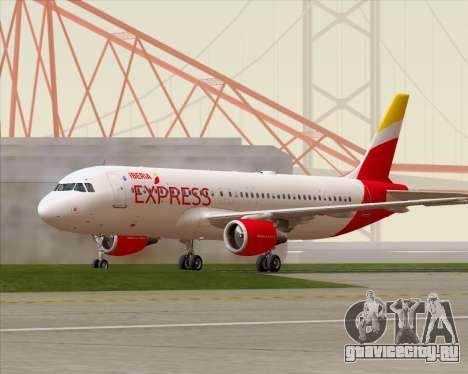 Airbus A320-200 Iberia Express для GTA San Andreas вид слева