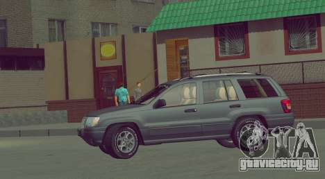 Jeep Grand Cherokee WJ для GTA San Andreas вид сзади