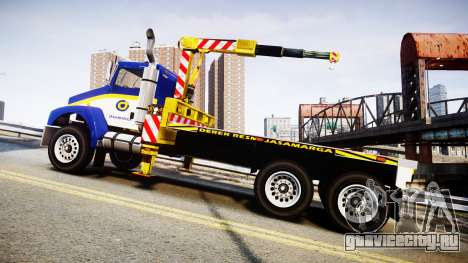 HVY Biff Indonesian Jasamarga Tow Truck [ELS] для GTA 4 вид слева