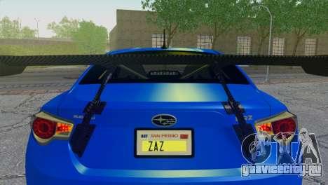 Subaru BRZ Drift Built для GTA San Andreas вид изнутри