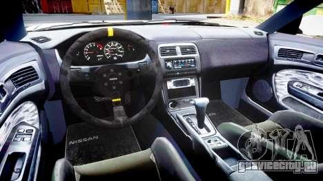 Nissan Silvia S14 Kouki Hellaflush для GTA 4 вид изнутри