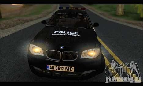 BMW 120i USA Police для GTA San Andreas вид справа