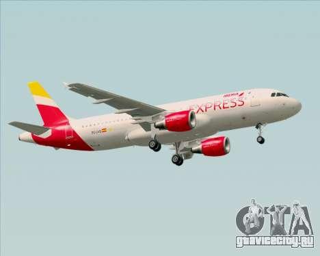 Airbus A320-200 Iberia Express для GTA San Andreas вид сзади