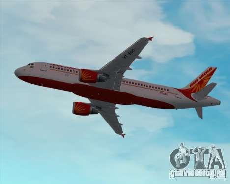 Airbus A320-200 Air India для GTA San Andreas вид снизу