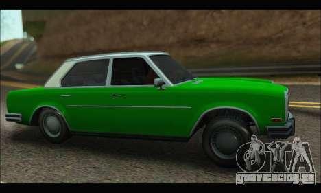 Benefactor Glendale (GTA V) для GTA San Andreas вид слева