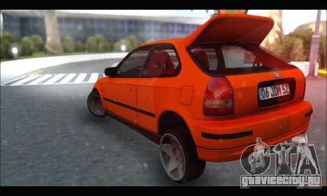 Honda Civic HB (JDM Family) для GTA San Andreas вид сзади слева