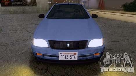 GTA V Ingot для GTA San Andreas вид сзади слева