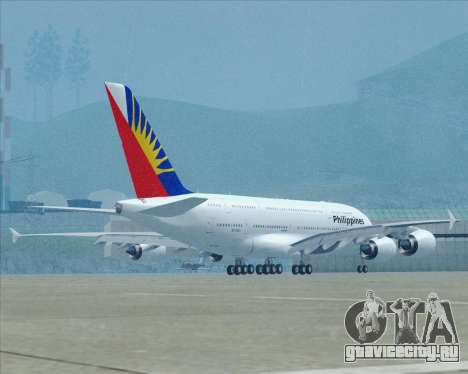Airbus A380-800 Philippine Airlines для GTA San Andreas вид сверху