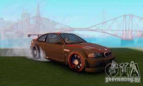 BMW M3 GTR для GTA San Andreas вид сзади слева