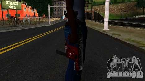 Новогодняя MP5 для GTA San Andreas третий скриншот