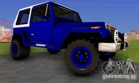 Messa Off-Road Styling pack v1 для GTA San Andreas вид справа