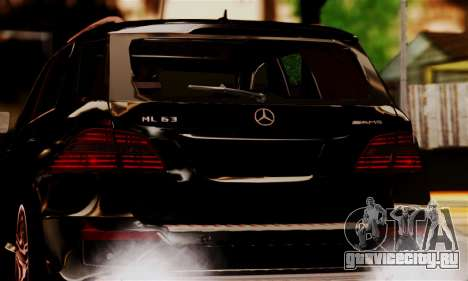 Mercedes-Benz ML63 AMG для GTA San Andreas вид сзади