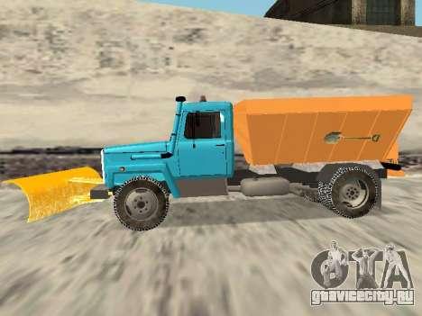 ГАЗ 3309 Снегоуборочная для GTA San Andreas вид сзади слева