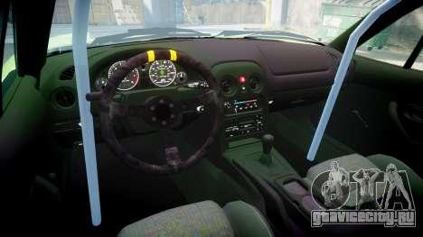 Mazda MX-7 для GTA 4 вид изнутри