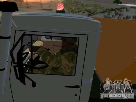 ГАЗ 3309 Снегоуборочная для GTA San Andreas вид сбоку