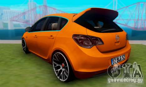 Opel Astra J Team для GTA San Andreas вид слева