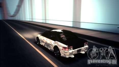 Sultan Winter Camo для GTA San Andreas вид слева