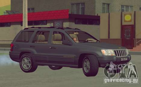 Jeep Grand Cherokee WJ для GTA San Andreas вид изнутри