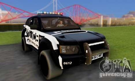 Bowler EXR S 2012 v1.0 Police для GTA San Andreas вид сзади