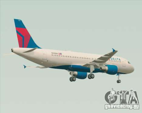 Airbus  A320-200 Delta Airlines для GTA San Andreas вид сзади