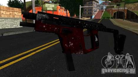 Новогодняя MP5 для GTA San Andreas