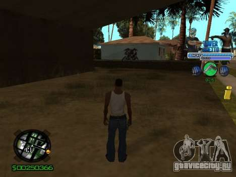 С-Hud Tawer-Ghetto v1.6 Classic для GTA San Andreas третий скриншот