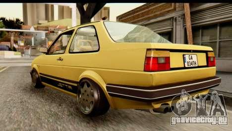 Volkswagen Jetta A2 Coupe для GTA San Andreas вид слева
