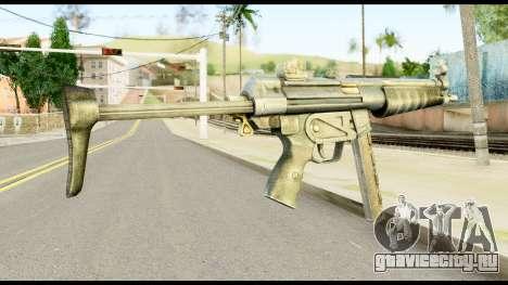 MP5 с Разложенный Прикладом для GTA San Andreas второй скриншот