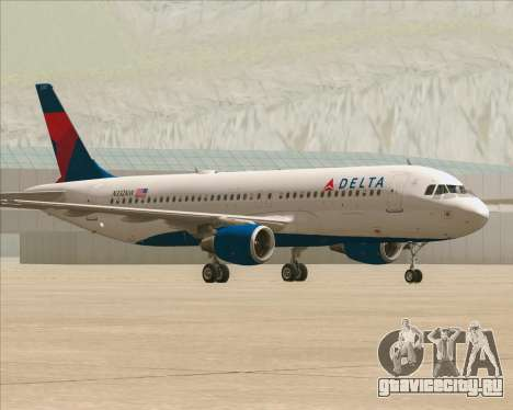 Airbus  A320-200 Delta Airlines для GTA San Andreas вид слева