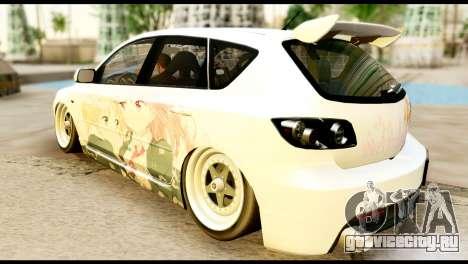 Mazda Speed 3 [Sakura Trick Itasha] для GTA San Andreas вид слева