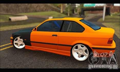 BMW e36 Drift для GTA San Andreas вид сзади слева