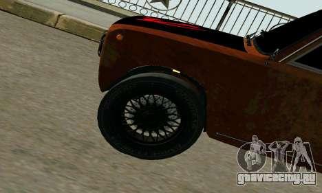 ВАЗ 2101 Ratlook v2 для GTA San Andreas вид сзади