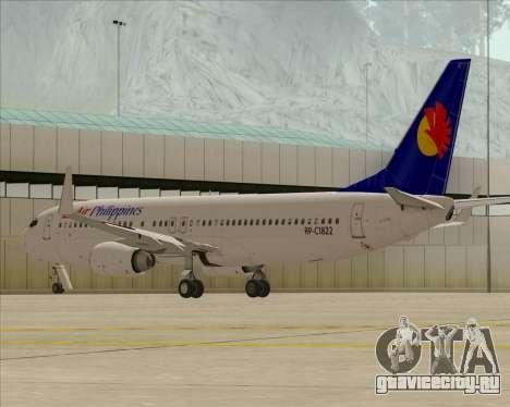 Boeing 737-800 Air Philippines для GTA San Andreas вид изнутри