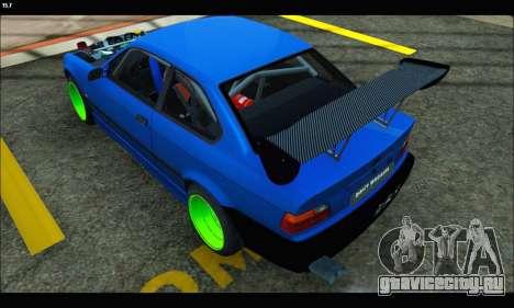 BMW e36 Drift Edition Final Version для GTA San Andreas вид слева